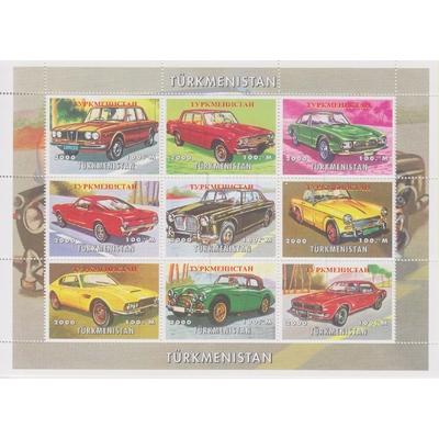 Turkménistan - Automobiles - Feuillet de 2000