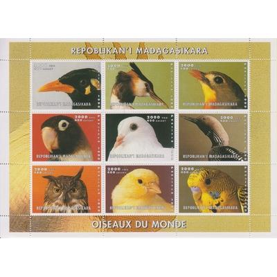 Madagascar - Oiseaux - Feuillet de 1999