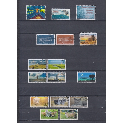 Territoire Autonome d'Océanie - Collection de timbres oblitérés (2 photos) - Faciale €15