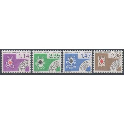 France - Cartes - yt.182/85 neufs ** - Cote €4