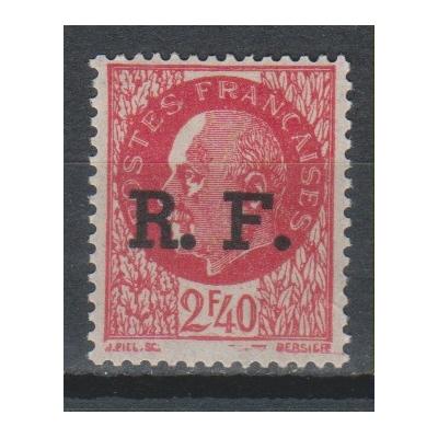 France - Surcharge de libération de 1944 - Timbre neuf * signé mais petite déchirure - Cote €16,50