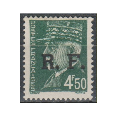 France - Surcharge de libération de 1944 - Timbre neuf * - Cote €1.60