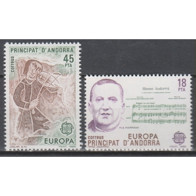 Andorre espagnol - Europa 1985 - yt.172/73 neufs ** - Cote €1,10