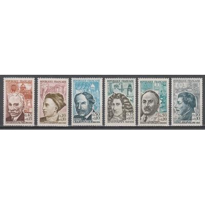 France - Célébrités - yt.1345/50 neufs ** - Cote €17