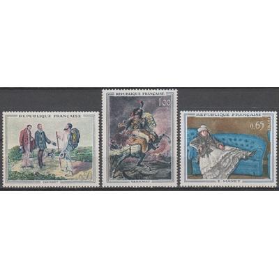 France - Tableaux - yt.1363/65 neufs ** - Cote €12