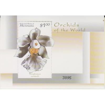 Micronésie - Orchidées - Feuillet neuf **