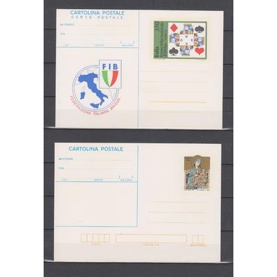 Italie - 3 entiers postaux neufs ** des années 80 ( 2 photos )