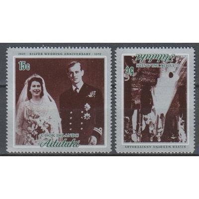 Aitutaki - Elizabeth II - yt.45/46 neufs ** - Cote €18