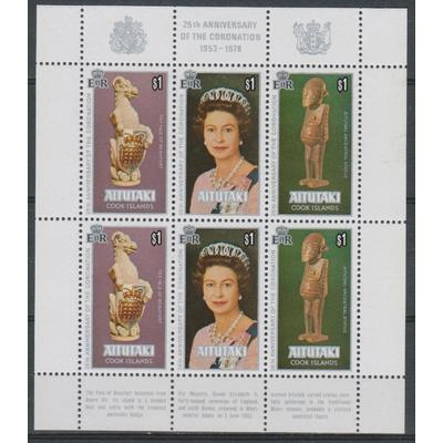 Aitutaki - Elizabeth II - Feuillet de 2 séries neufs ** - Cote €18