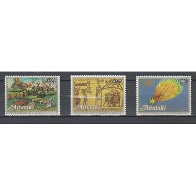 Aitutaki - Comète de Halley - yt.435/37 neufs ** - Cote €10.50