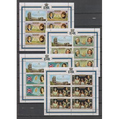 Aitutaki - Elizabeth II - Feuillets de 5 neufs ** - Cote €55