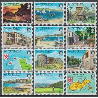 Alderney - Série courante - yt.1/12 neufs ** - cote €7