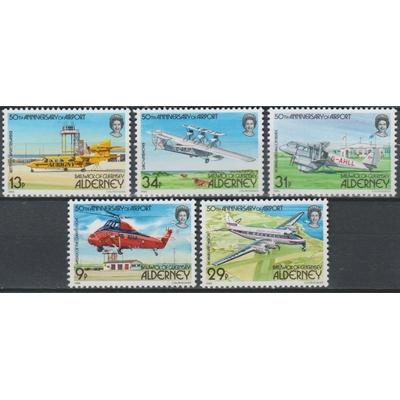 Alderney - Aéroport - yt.18/22 neufs ** - Cote €35