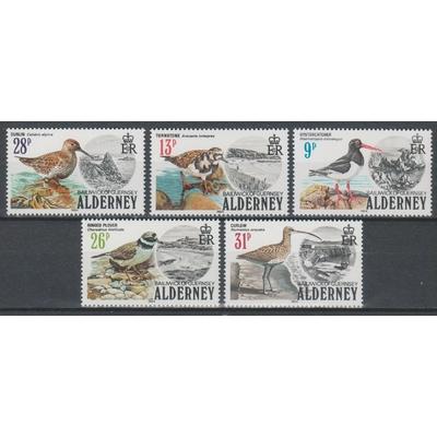 Alderney - Oiseaux - yt.13/17 neufs ** - Cote €25