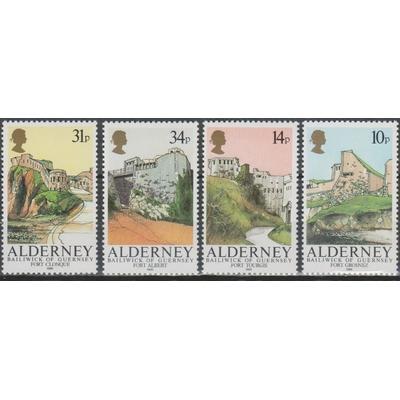 Alderney - Forts - yt.28/31 neufs ** - Cote €17.50