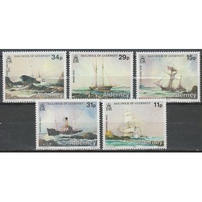 Alderney - Voiliers - yt.32/36 neufs ** - Cote €35