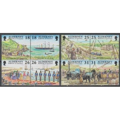Alderney - Histoire - yt.108/15 neufs ** - Cote €10