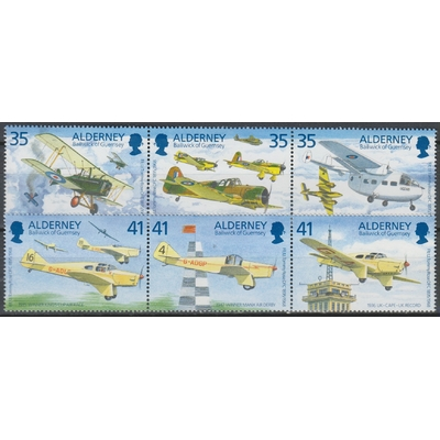 Alderney - Aviation - yt.83/88 neufs ** - Cote €11.25