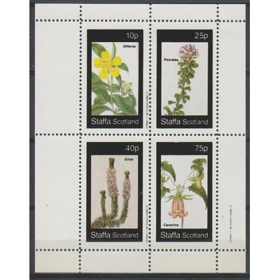 Staffa - Fleurs - Feuillet neuf ** de 1982