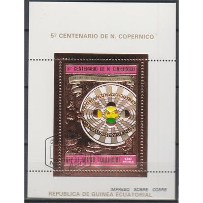 Guinée Equatoriale - Copernic / Espace - Feuillet or