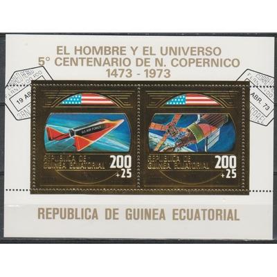 Guinée Equatoriale - Espace / Copernic - Feuillet or