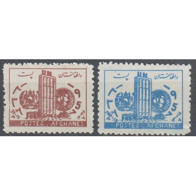 Afghanistan - Nations-Unies - yt.456/57 neufs ** - Cote €2.25