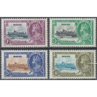 Malte - Jubilé George V - yt.171/74 neuf * - Cote €27.50