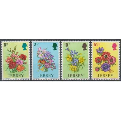 Jersey - Fleurs - yt.89/92 neufs ** - Cote €2.25