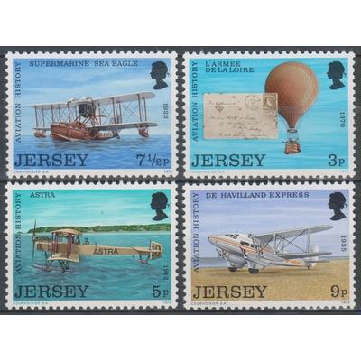 Jersey - Aviation - yt.75/78 neufs ** - Cote €2.75