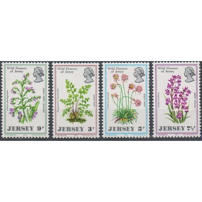 Jersey - Flore - yt.55/58 neufs ** - Cote €12