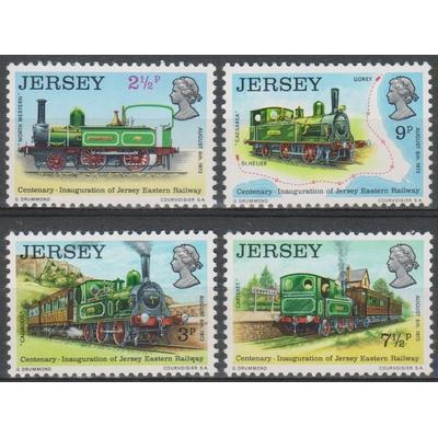 Jersey - Trains - yt.79/82 neufs ** - Cote €2.75