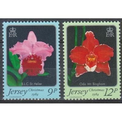 Jersey - Fleurs / Noël - yt.334/35 neufs ** - Cote €2