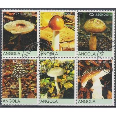 Angola - Champignons - Série de 6 valeurs de 1999