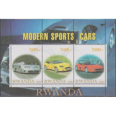 Rwanda - Automobile - Feuillet de 2000