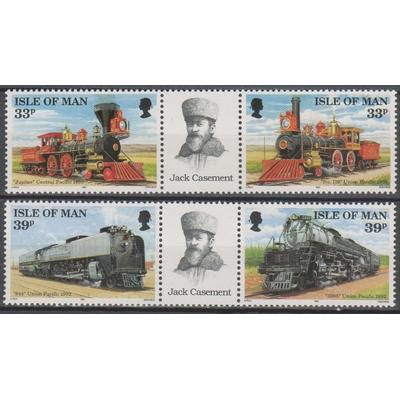 Ile de Man - Locomotives - yt.546/49 neufs ** - Cote €9
