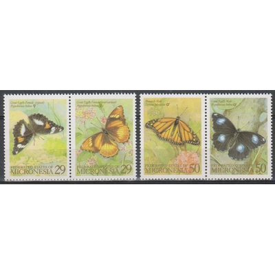 Micronésie - Papillons - yt.252/55 neufs ** - Cote €4.50
