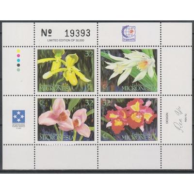 Micronésie - Orchidées - yt.BF21 neuf ** - Cote €4