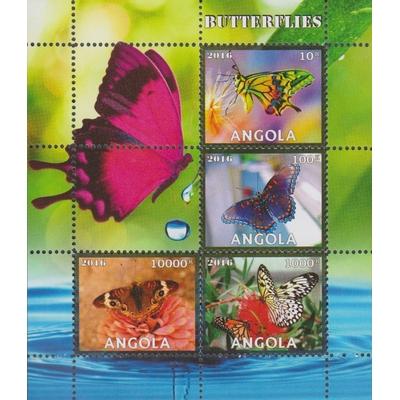 Angola - Papillons - Feuillet neuf ** de 2016