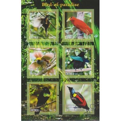 Erythree - Oiseaux - Feuillet neuf ** de 2017