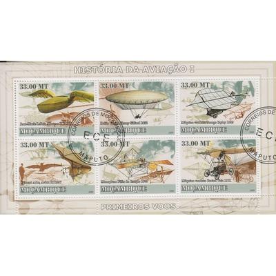 Mozambique - Aviation - Feuillet de 2009