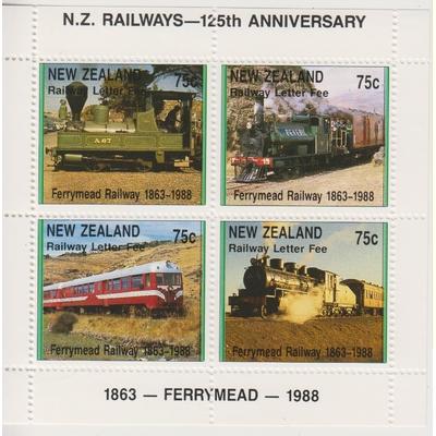 Nouvelle Zélande - Locomotives - Timbres chemin de fer - Rare - Neuf **
