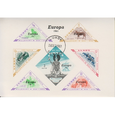 Lundy - Chevaux / Europa - Feuillet de 1961