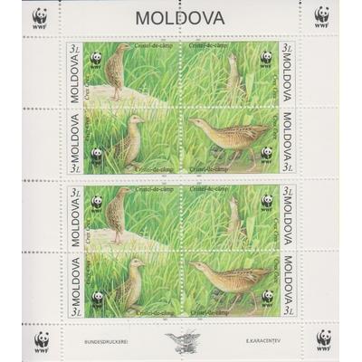 Moldavie - WWF / oiseaux - Feuillet neuf ** de 2001 - Cote €30