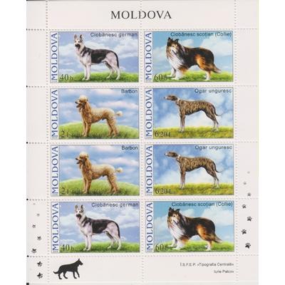 Moldavie - Chiens de race - Feuillet neuf ** de 2006 - Cote €24