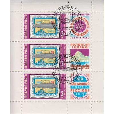 Hongrie - Exposition - Feuillet de 1977 - Cote €6