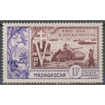 Madagascar - Poste aérienne - yt.A74 neuf ** - Cote €6