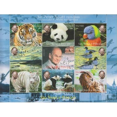 Saint Thomas - WWF / Faune sauvage - Feuillet neuf ** - Cote €18