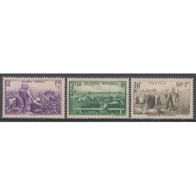 France - Secours national - yt.466+468/69 neufs * - Cote €6.50