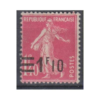 France - Semeuse surchargée - yt.228 neuf * - Cote €1,10