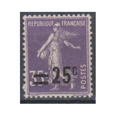 France - Semeuse surchargée - yt.218 neuf * - Cote €0,30